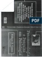 Fenomenologia e Pesquisa em Psicologia - Gomes