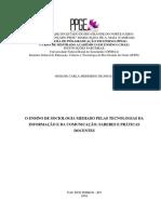 Dissertação Revisada - Josiane Versão Final (o Ensino de Sociologia Mediado Pelas Tecnologias Da Informação e Da Comunicação-saberes e Práticas Docentes)