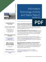November 2010 IT Status Report