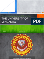 5. UM Vision Mission Goals Values and Administration Prof. Sam Bernales Jr.