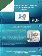 Caracteristicas Quimicas y Fisicas Del Agua de Mezclado