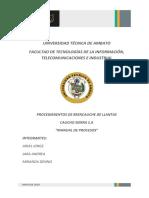 Manual de Procesos Caucho Sierra