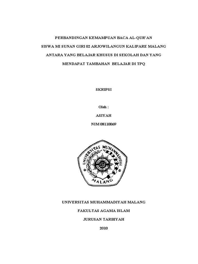 Cover Skripsi Universitas Muhammadiyah Malang