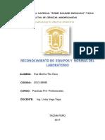 Trabajo Encargado de Practicas Pre Profesionales Reconocimiento de Equipos de Laboratorio Terminado y Entregado