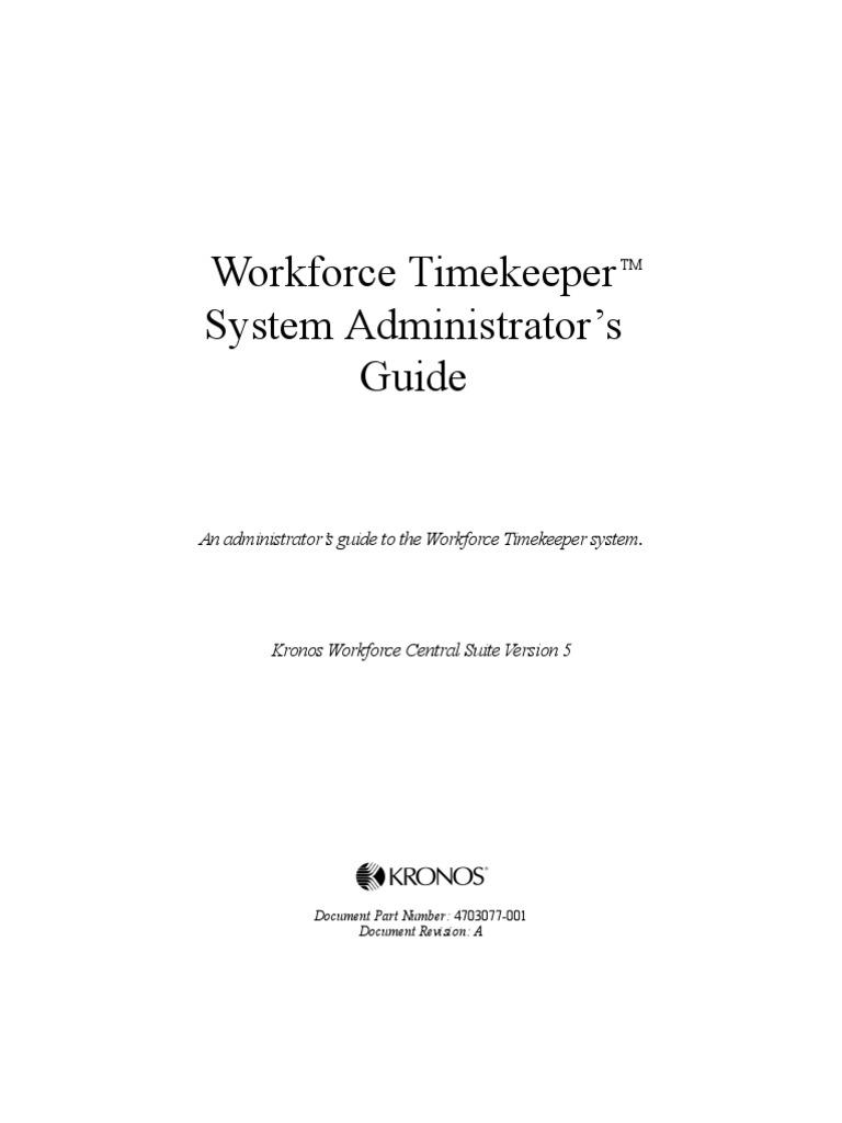 workforce central timekeeper 5 user manual hypertext transfer rh scribd com kronos user guide kronos intouch user manual