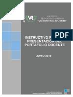 Instructivo Para La Presentación Del Portafolio Docente