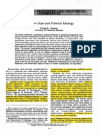 Cognitive Style and Political Ideology SR