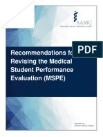 Mspe recommendation