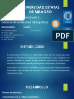 Diapositiva de Normas de redacción y Gestores de referencias bibliográficas.pptx