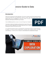 A guide to Data Exploration