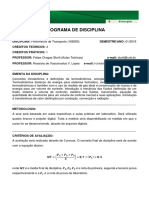 Programa de Disciplina - Felipe - 1 Semestre
