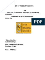 Term Paper of Accounting for Managers