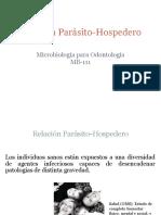 Relacion parasito hospedero.