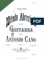 Antonio Cano - Metodo Abreviado de Guitarra