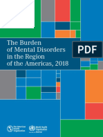 OMS the Burden of Mental Disorders in the Region of the Americas, 2018