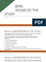 lesson6describingbackgroundofthestudy-181008230115