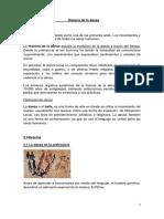 Tema Historia de La Danza