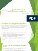 Reglamento de La Ley de Contrataciones Del Estado