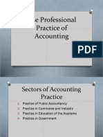 The Professional Practice of Accounting