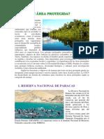 Dossier Areas Protegidas
