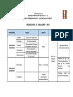 Cronograma de Simulacros Nacionales Ugel 05