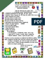 Lista de Utiles y Materiales Escolares 5