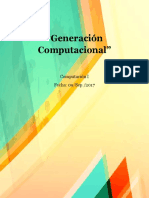 Generación computaciónal
