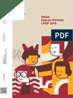 Daftar Daerah Afirmasi LPDP Tahun 2019