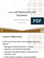 4 Rational Equations and Inequalities