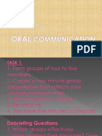 Oral Communication 1-1