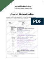 Contoh Status Pasien – Akupunktur Harmony