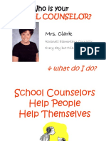 Who and What is Your School Counselor