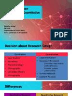 Debatable Between Qualitative and Quantitative Research