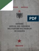 Enver Hoxha - Informe sobre la actividad del comite central del Partido del Trabajo de Albania.pdf