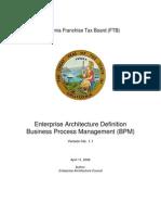 Enterprise Architecture Definition-BPM