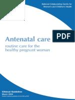 Cg62 Antenatal Care Evidence Tables2