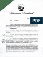 Resolucion Directoral de Transporte