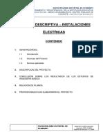 Memoria Descriptiva Inst. Electricas - Echarati