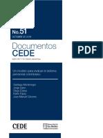 Un modelo para evaluar el sistema pensional colombiano
