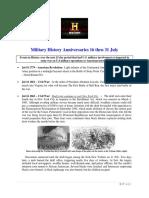 Military History Anniversaries 0716 Thru 073118