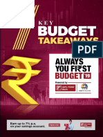 Key Budget Takeaways IDFC First Bank Always You First