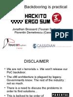 Moabi - Hardware Backdooring is Practical - Hackito Ergo Sum 2012