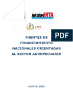 Fuentes de Financiamiento INTA