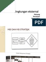 Analisis Lingkungan Eksternal Kuliah Dr Nasir 10-5-2019
