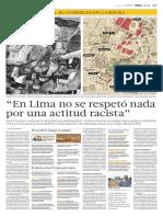 """""""En Lima no se respetó nada por una actitud racista"""""""