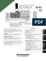 Pioneer Pd-f907 Manual
