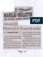 Manila Bulletin, July 15, 2019, P80,000 gift for 80-year-olds pushed.pdf