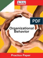 ICFAI Organizational Behaviour Model Questions
