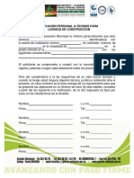 Formato Notificación Personal