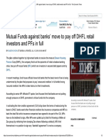 DHFL MFs Against Banks' Move to Pay of..